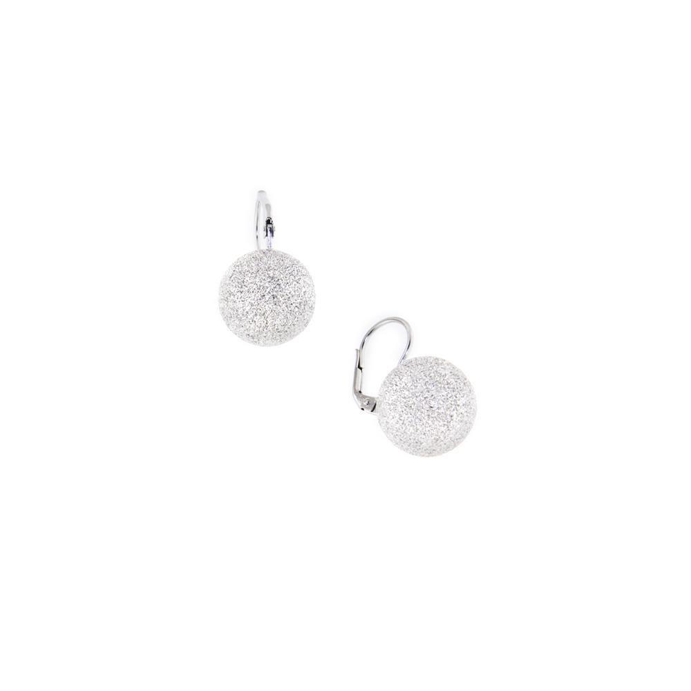 Paclo 14PP07LIER999 Orecchini Argento Galvanica Rodiata Diamantato 16mm