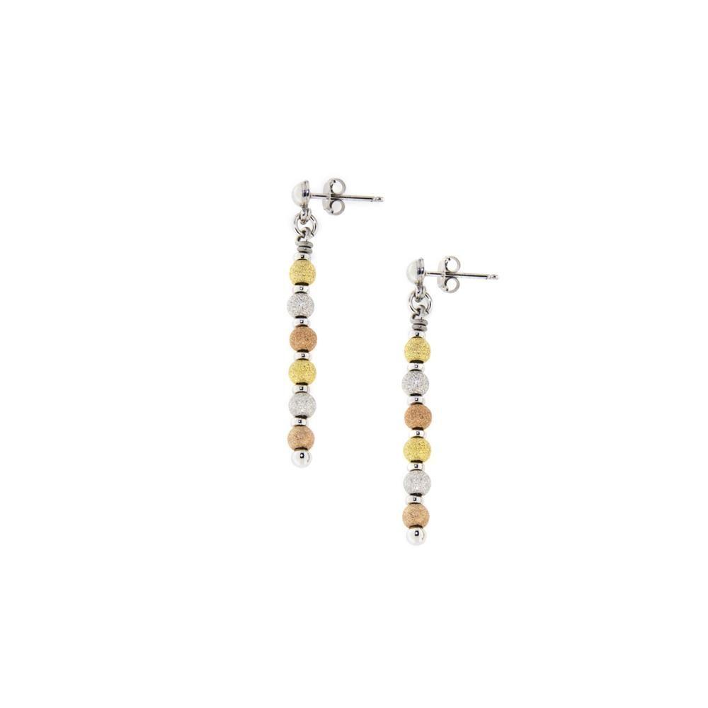Paclo 14PP13LIEX999 Orecchini Argento Galvanica Multicolore Diamantato 4mm