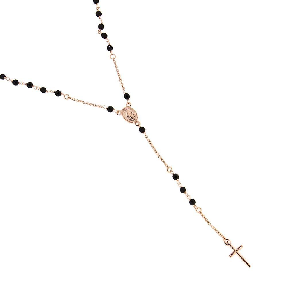 Paclo 14SA11REKP999 Rosari Galvanica Rose Motivo Religioso Zircone Colorato