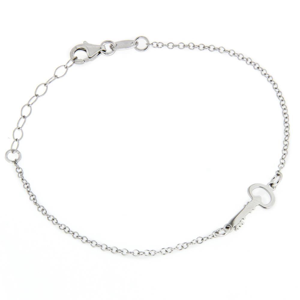 Paclo 15ke04libr999 bracciale argento galvanica rodiata chiave 19cm