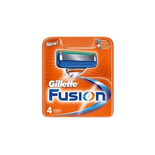 Gillette Fusion Lame Di Ricambio Per Rasoio 1 Confezione Da 4 Lamette