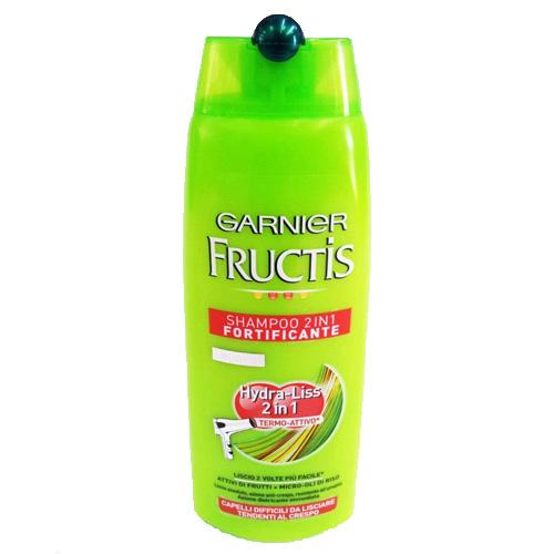 Garnier Fructis Shampoo E Balsamo Per Capelli Anti Crespo E Anti Umidita HydraLiss 250 Ml