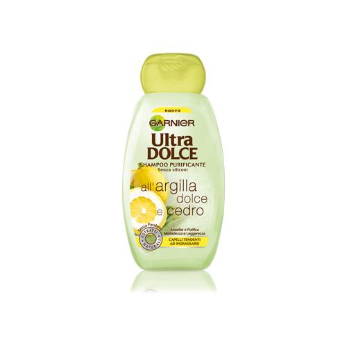 Garnier Shampoo Per Capelli Ultra Dolce AllArgilla Dolce E Cedro 250 Ml