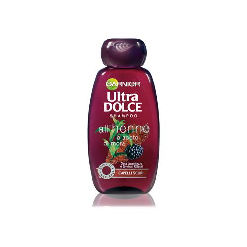 Garnier Shampoo Per Capelli Scuri Ultra Dolce AllHenne E Aceto Di Mora 250 Ml