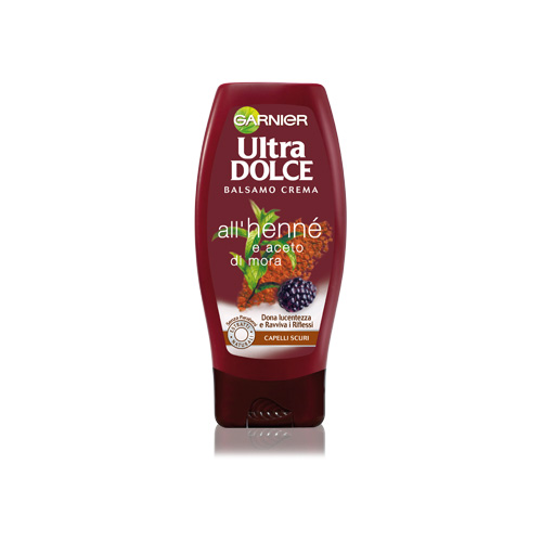 Garnier Balsamo Ultra Dolce All Henne E Aceto Di Mora Per Capelli Scuri 200 Ml