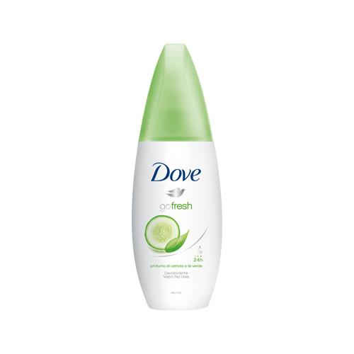 Dove Deodorante Vapo Go Fresh Senza Alcool Fragranza Al Cetriolo E T Verde 75 ML