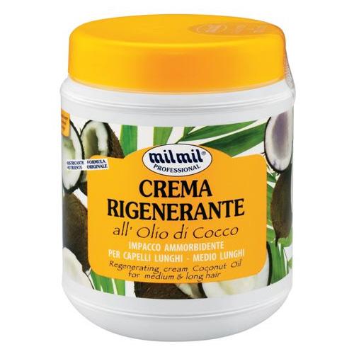Mil Mil Crema Rigenerante Per Capelli All Olio Di Cocco Impacco Ammorbidente 1000 Ml