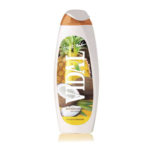 Vidal Fruit Mix Bagnoschiuma Cocco e Ananas 500 ml