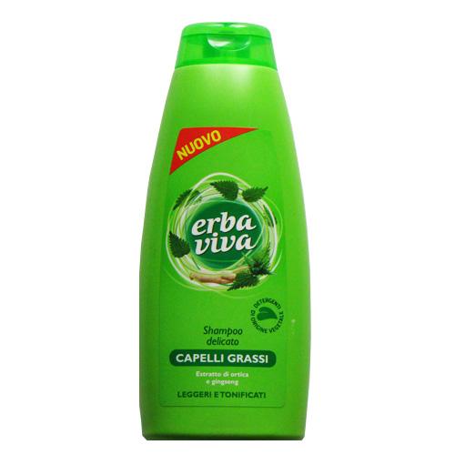 Erbaviva Shampoo Per Capelli Grassi AllOrtica E Ginseng 400 Ml  100 Ml