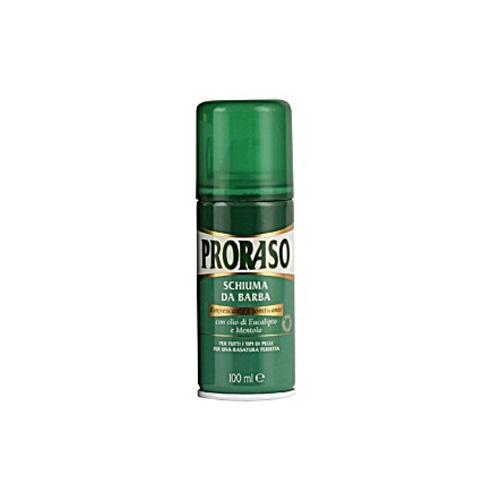 Proraso Schiuma Da Barba Rinfrescante E Tonificante Olio Di Eucalipto E Mentolo Per Tutte Le Barbe Verde 100 Ml