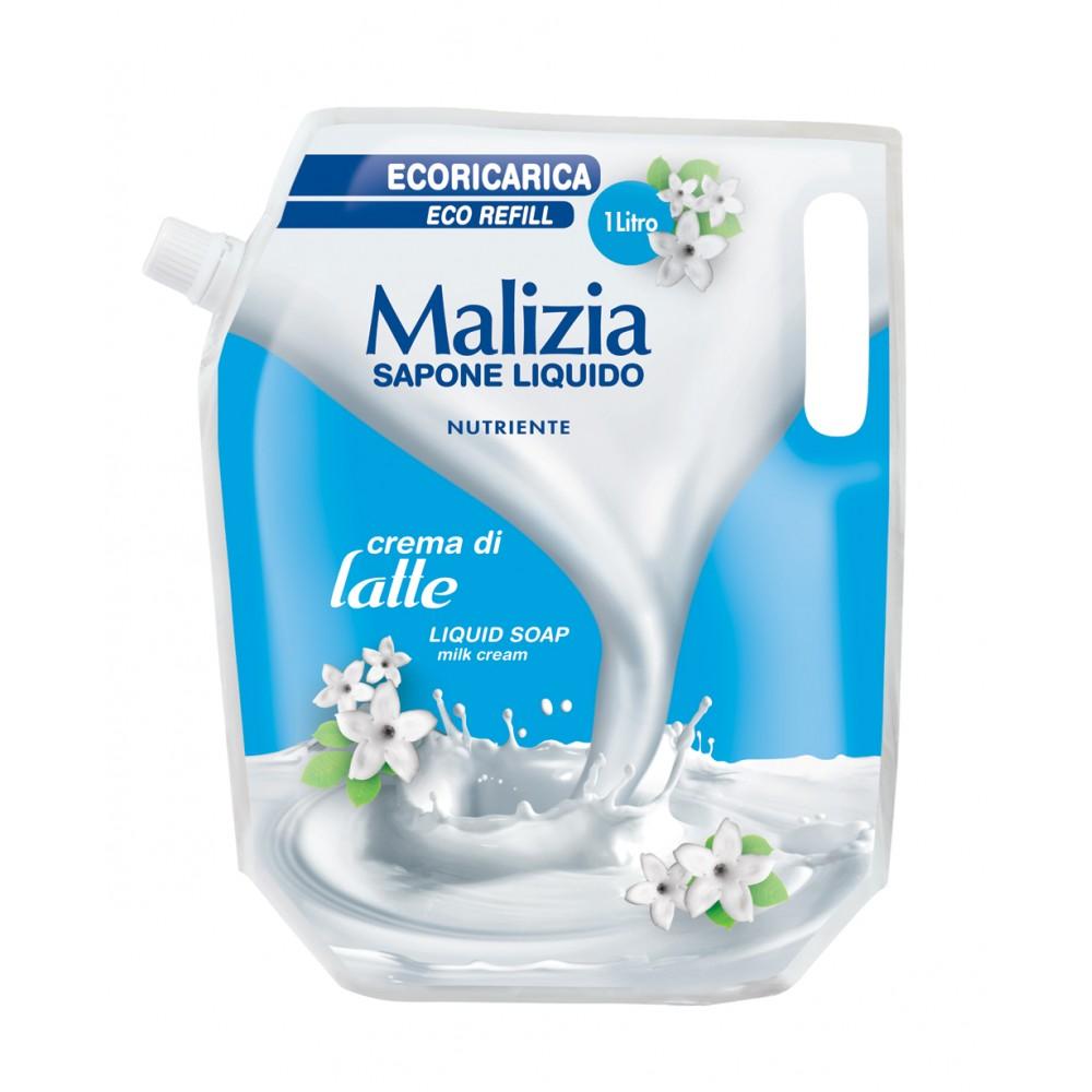 Malizia Sapone Liquido Latte 1 Lt Ricarica