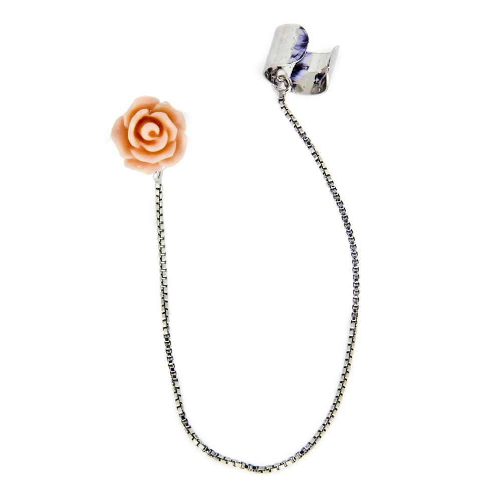 Paclo 14EC01CYER999 Orecchini Galvanica Rodiata Modello Ear Cuff Rose