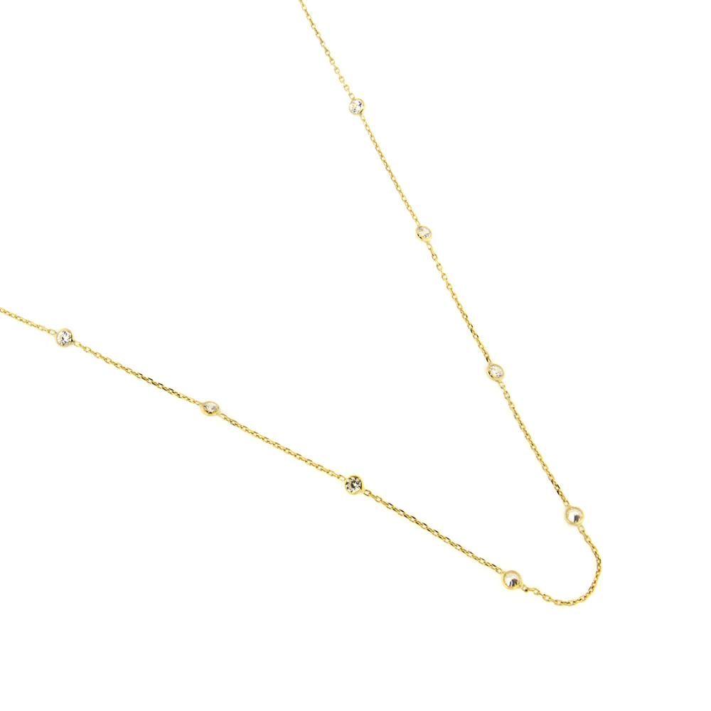 Paclo 14z003cynd999 collana galvanica dorata. zircone bianco