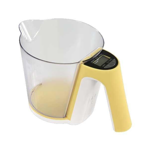 Bilancia digitale pesa liquidi e solidi da cucina max 2 kg display lcd