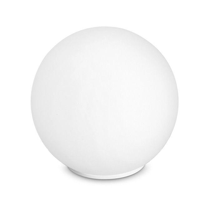 Lumetto a sfera satinato bianco Cm D 35xH 36 Lampada 1xE14 da 40W
