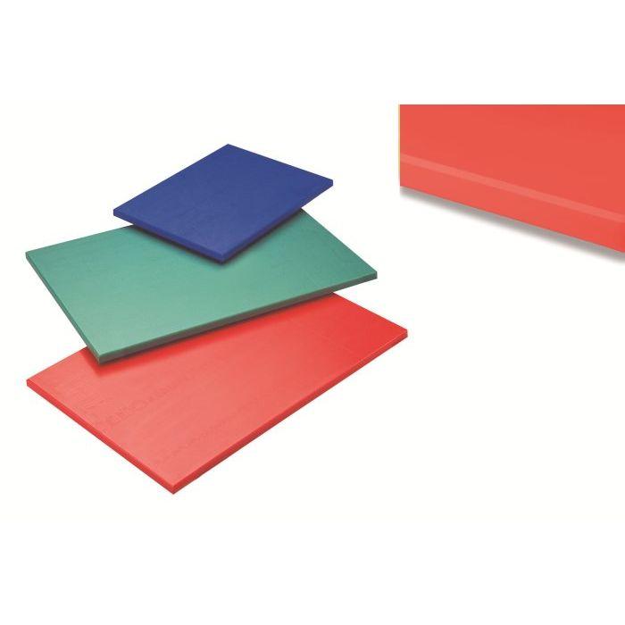 Tagliere polietilene senza fermo 60x40x15 cm Rosso