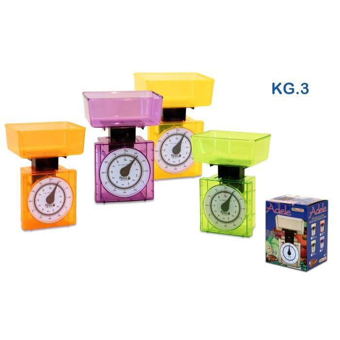 Sinsin AF Bilancia da Cucina Adele Colori Assortiti 3kg C110678