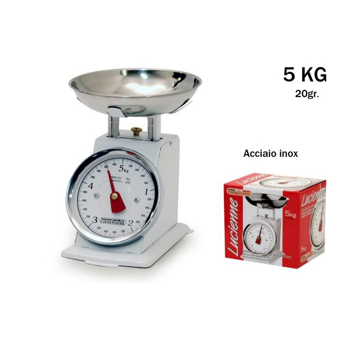 Sinsin AF Bilancia da Cucina Lucienne INOX 5 Kg C112343