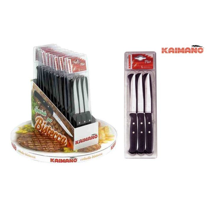 Kaimano Set Coltelli Caimano Bistecca Premium 6 pezzi Nero