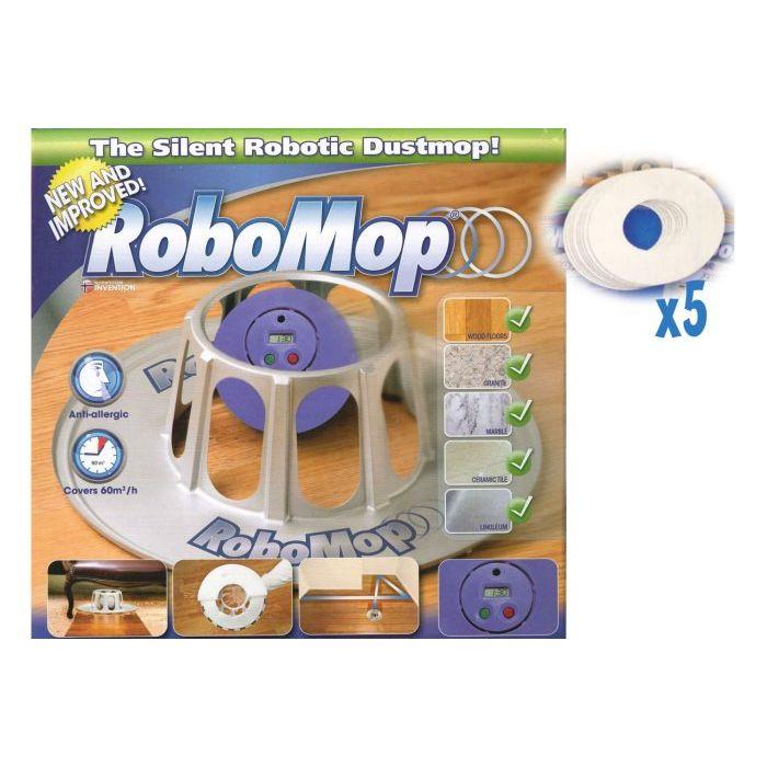 Robomop RBasic Robot Aspirapolvere con Sistema di Navigazione Autonomo