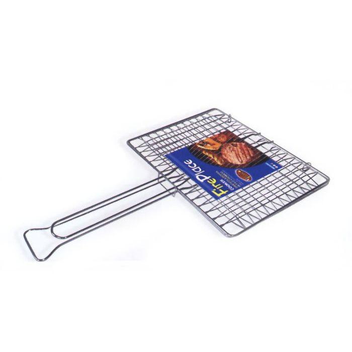 Sinsin AF Griglia Barbecue Doppia Senza Piedi con Manico Cromata 37 x 27 cm