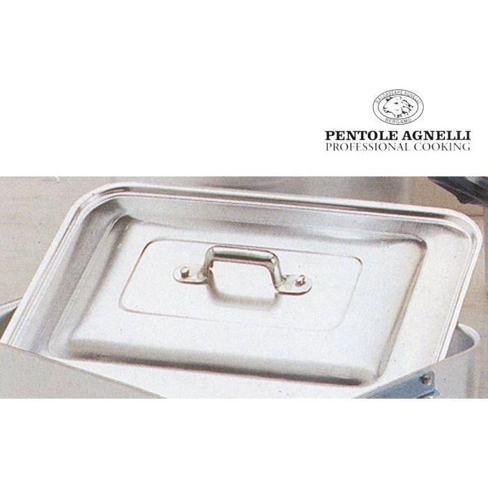 Pentole agnelli Coperchio Rostiera Rettangolare Alluminio 60 x 40 cm