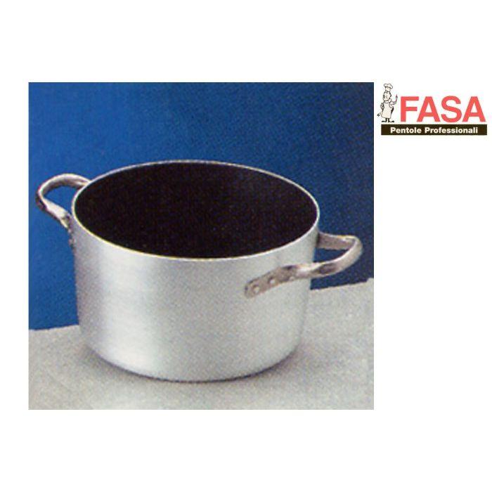 Fasa Casseruola Alta Alluminio Teflon 2 Manici 16  cm