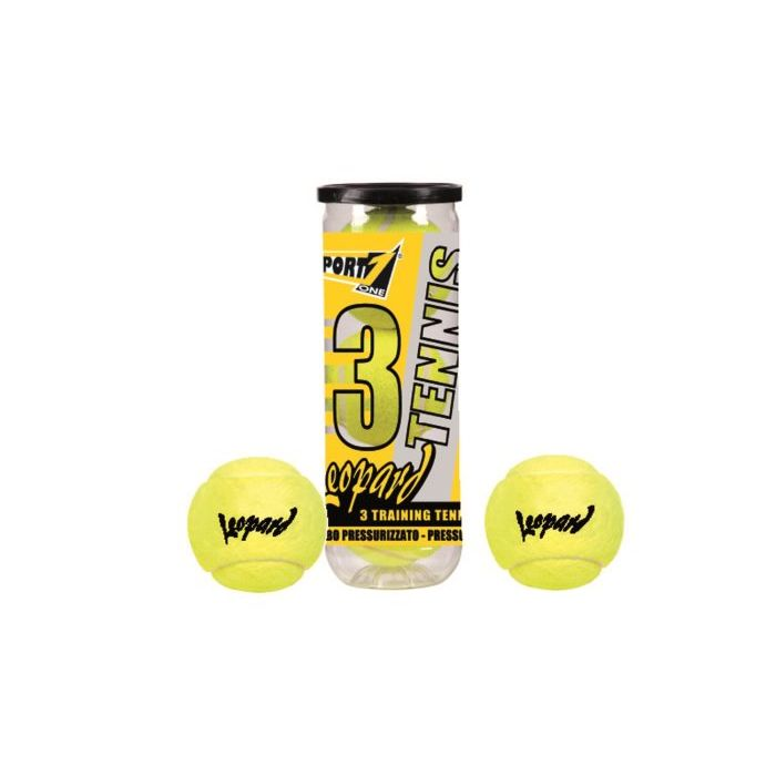 Sinsin Tennis Palline Leopard Tubo 3 Pezzi
