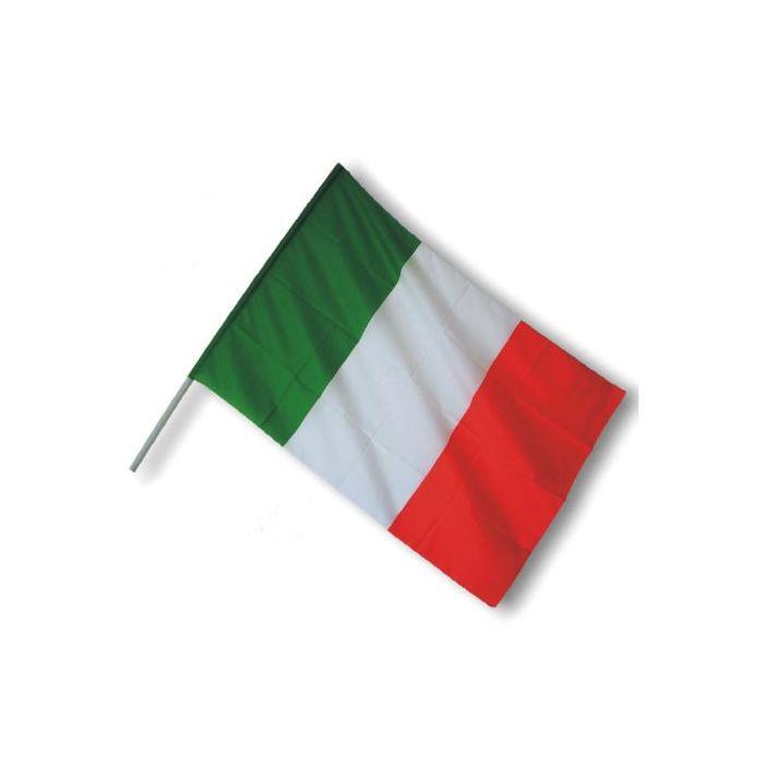 Ciao Bandiera Italia con Asta 90 x 60 cm