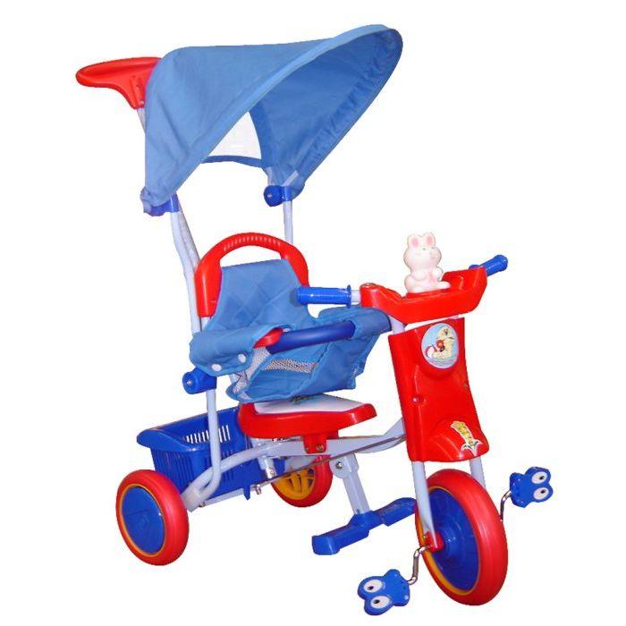 Officina dei Giochi Triciclo Buby con Manico BluRosso