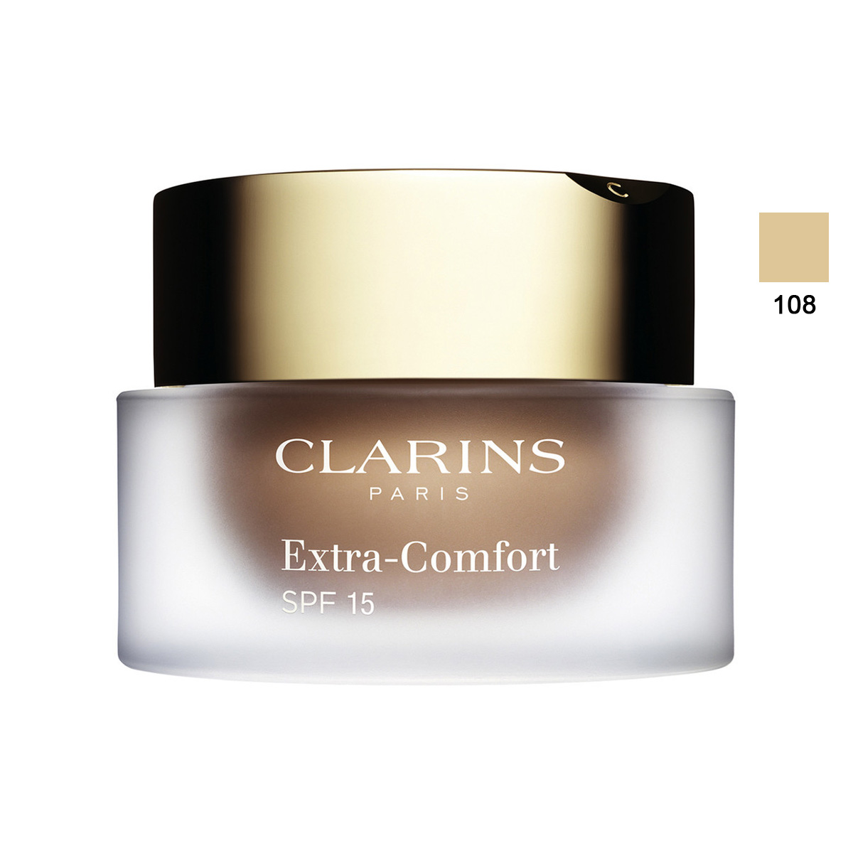 Clarins  Extracomfort foundation spf 15  fondotinta 108 sand