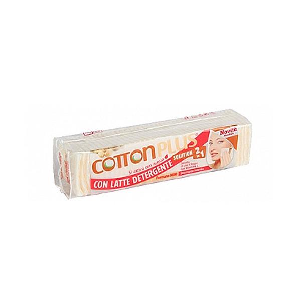 Cotton Plus  Solution 2in1 dischetti struccanti mini con latte detergente argan 80 pz