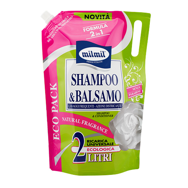 Mil Mil  Shampoo  balsamo ricarica 2 lt