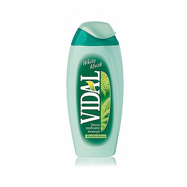 Vidal  Doccia schiuma tonificante al muschio bianco 250 ml