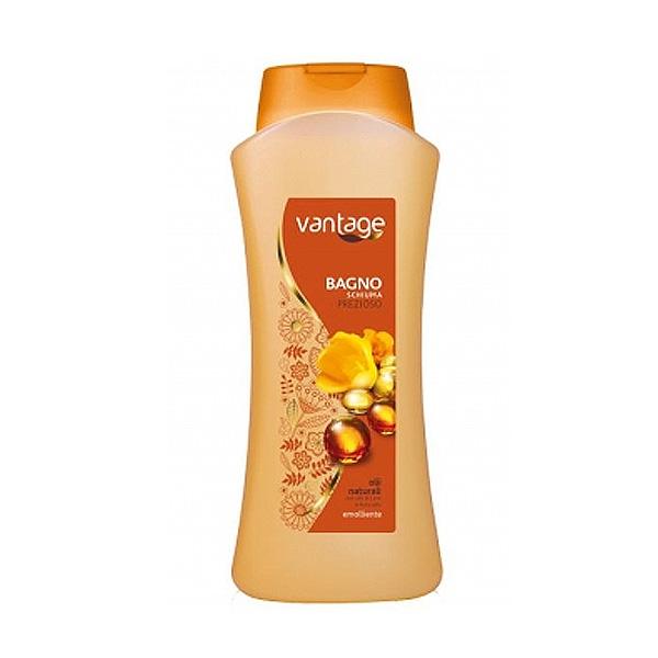 Vantage  Bagno schiuma prezioso emolliente olii naturali con olio di lino e di avocado 750 ml