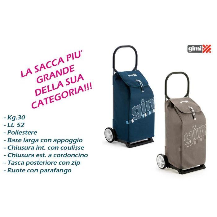 Gimi Carrello Spesa Italo Blu 52 lt
