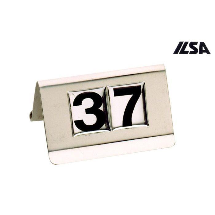 Ilsa Segnatavola Numerato Inox 2130