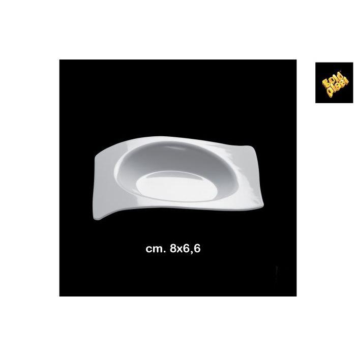 Goldplast Piattino Flat 8 x 66 cm 50 Pezzi Bianco