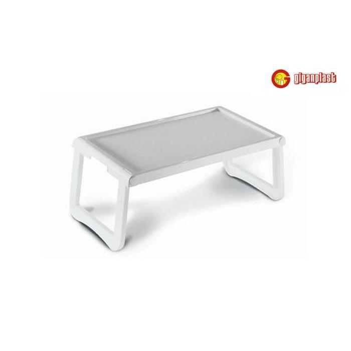 Giganplast Vassoio Colazione a Letto in Plastica colore Bianco 57 x 36 x 4 cm