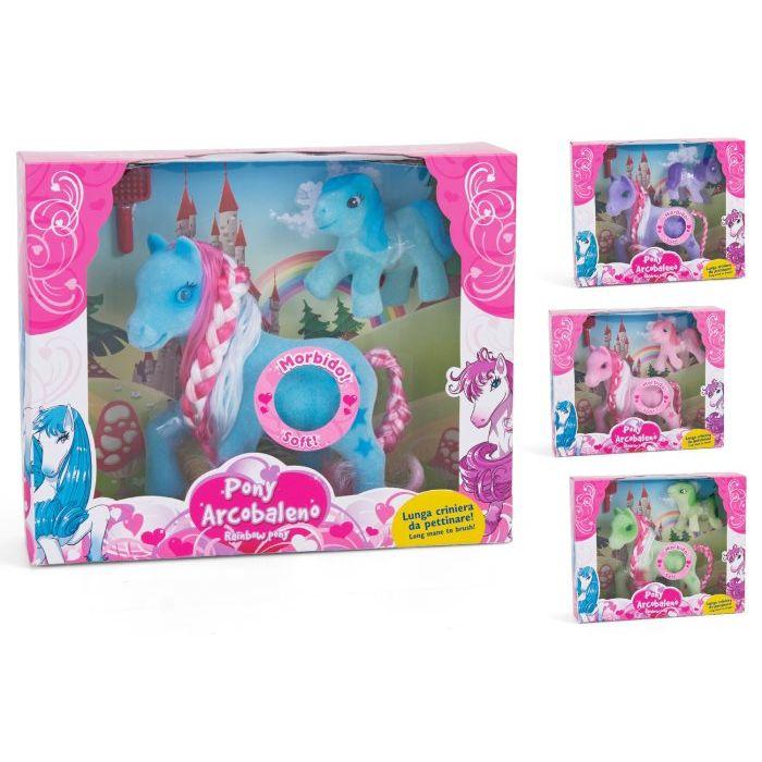 Globospa Pony Floccato con Baby e Spazzola