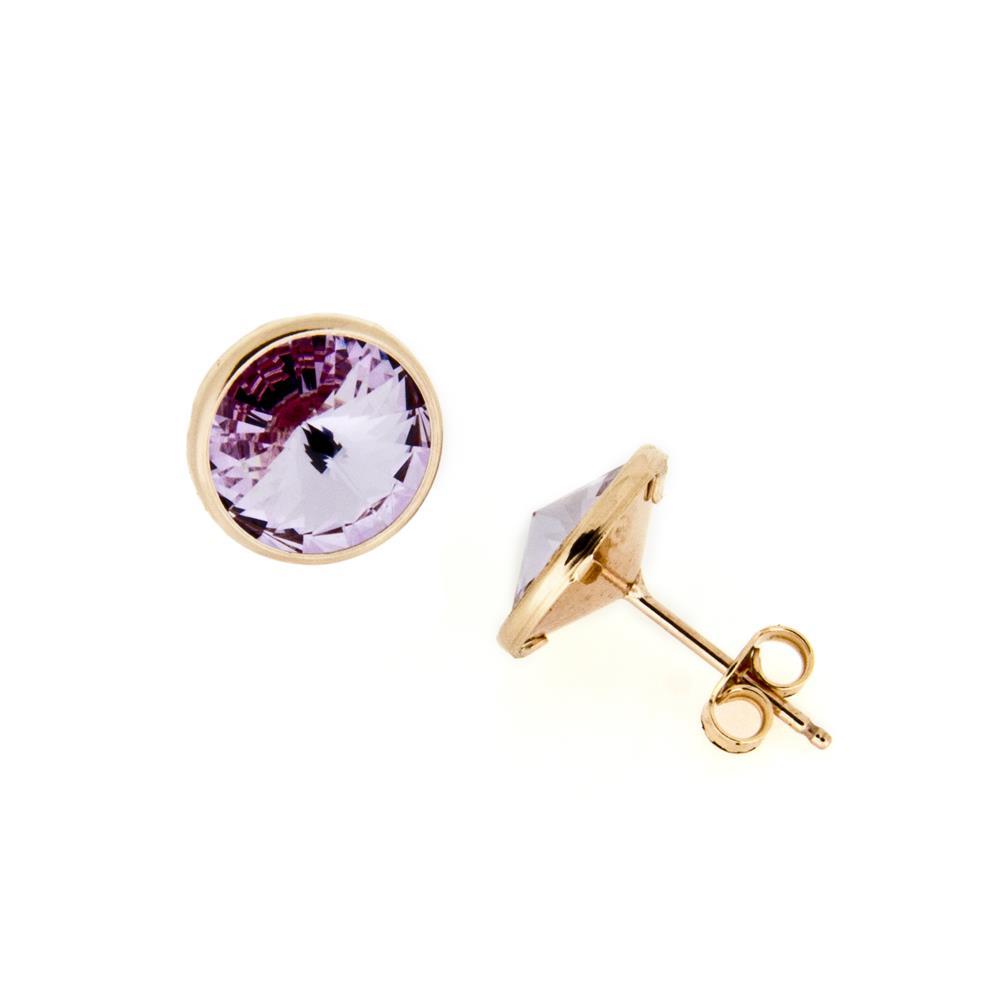 Paclo 15CE11STEP999 Orecchini Galvanica Rose e Swarovski Light Violet 12cm