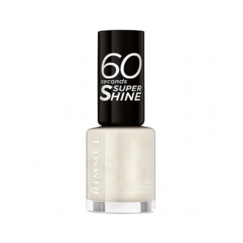 Rimmel  60 seconds super shine  smalto 730 silver bullet