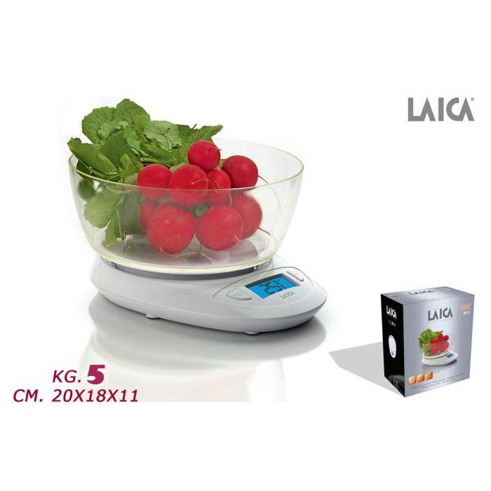 Laica Bilancia Cucina Elettronica 5 Kg KS1019W