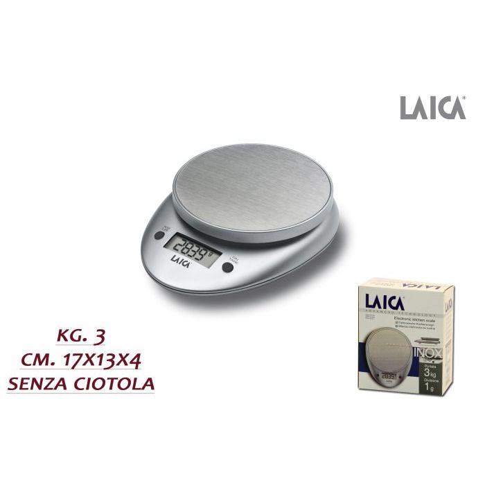 Laica Bilancia Cucina Elettronica Allumino 3 Kg BX93000