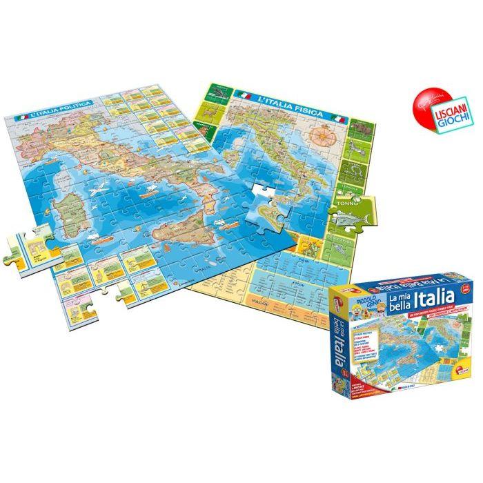 Liscianigiochi piccolo genio geopuzzle, la mia bella italia 433873