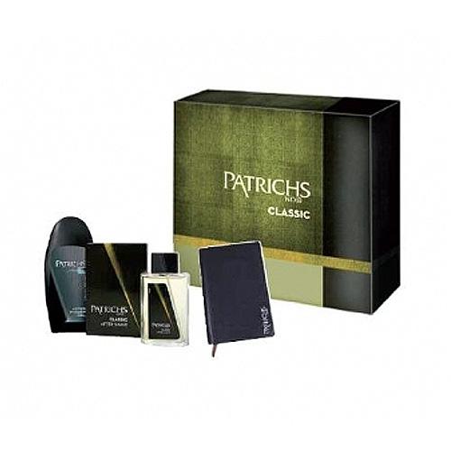 Patrichs  Cofanetto noir classic  after shave 75 ml  doccia schiuma 250 ml  gadget