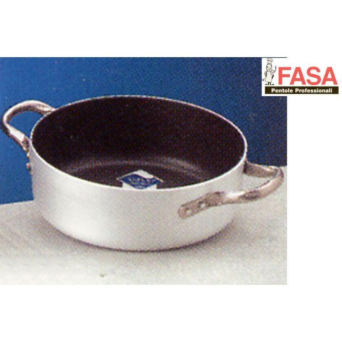 Fasa Casseruola Bassa Alluminio Teflon 2 Manici 45 cm