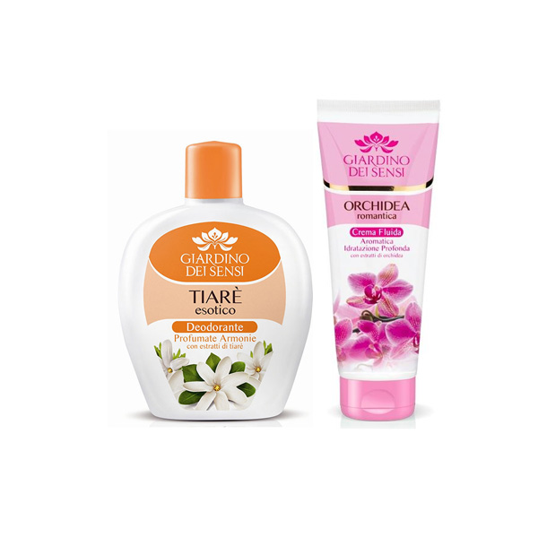 Giardino dei sensi  Deodorante squeeze tiare esotico 100 ml  docciaschiuma