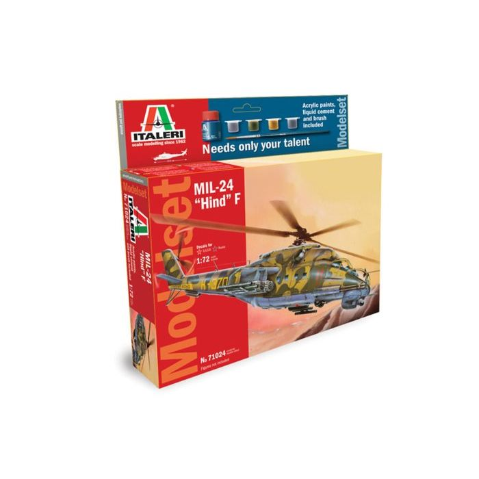Pama model kit elicottero militare mil-24 hind f 1:72 71024