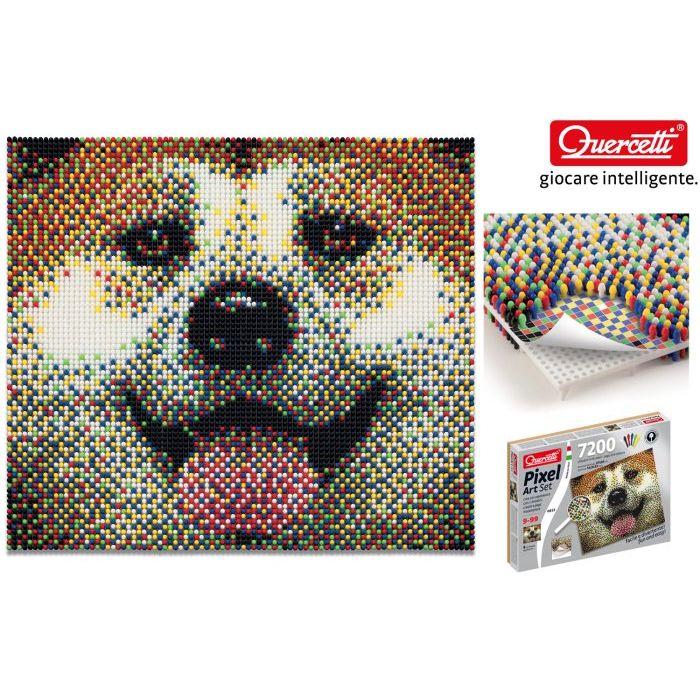 Quercetti set pixel art cane 7200 chiodini